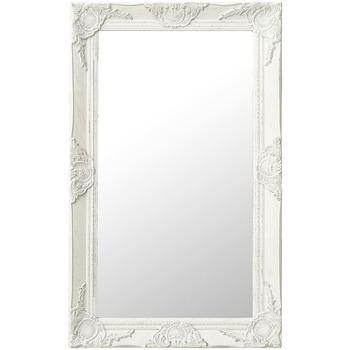 Parures de lit Miroirs Vidaxl 50 x 80 cm Blanc