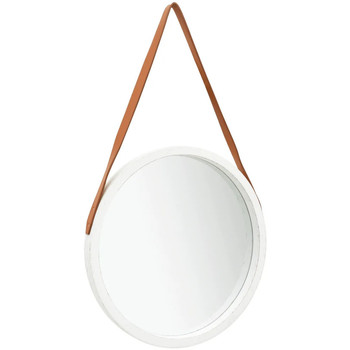 Maison & Déco Miroirs Vidaxl Miroir Φ 50 cm Blanc