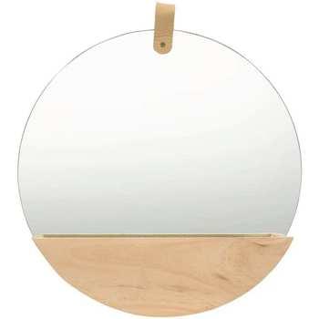 Maison & Déco Miroirs Vidaxl Miroir mural Φ 35 cm Brun