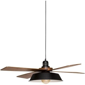 Maison & Déco Lustres, suspensions et plafonniers Atmosphera Suspension métal bois Cuba noir L94 Noir