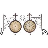 Maison & Déco Horloges Esschert Design Horloge de gare Brun