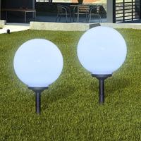 Maison & Déco Luminaires d'extérieur Vidaxl Lampe de jardin 30 cm Blanc