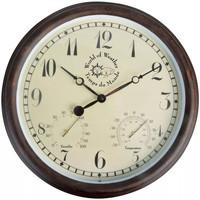 Maison & Déco Horloges Esschert Design Horloge d'extérieur Brun