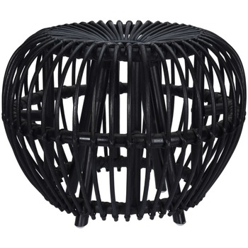 The Rug Republic Poufs Home&styling Repose-pied Noir