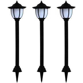 Maison & Déco Luminaires d'extérieur Vidaxl Lampe solaire Noir