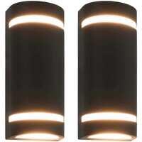 Maison & Déco Luminaires d'extérieur Vidaxl Lampe murale 75 x 95 x 238 mm Noir