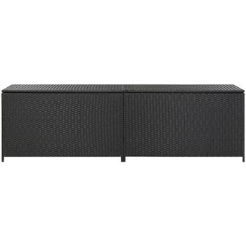 Maison & Déco Malles, coffres de rangements Vidaxl Boîte de rangement de jardin 200 x 50 x 60 cm Noir