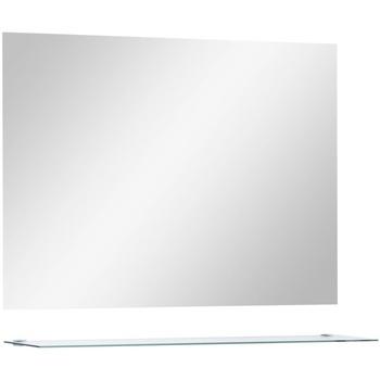 Maison & Déco Miroirs VidaXL Miroir mural 80 x 60 cm (1 étagère) Argent