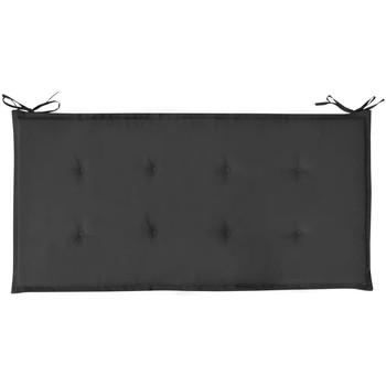 Maison & Déco Coussins Vidaxl Coussin de banc 120 x 50 x 4 cm Noir