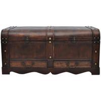 Maison & Déco Malles, coffres de rangements Vidaxl Boîte de rangement 90 x 51 x 42 cm Brun