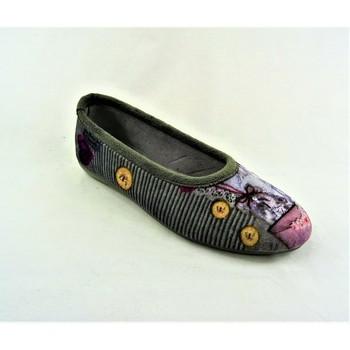 Chaussures Femme Chaussons La Maison De L'espadrille 6197G GRIS