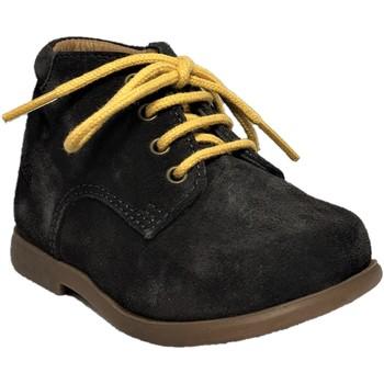 Chaussures Enfant Boots Pom d'Api Nioupi Derby Velours Anthracite