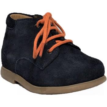 Chaussures Enfant Boots Pom d'Api Nioupi Derby Velours Marine