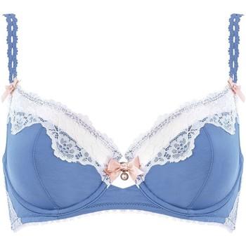 Sous-vêtements Femme Corbeilles & balconnets Brigitte Bardot Soutien-gorge à armatures pervenche/ivoire Succès Bleu