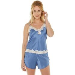 Vêtements Femme Pyjamas / Chemises de nuit Brigitte Bardot Top + Short pervenche/ivoire Succès Bleu