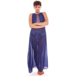 Vêtements Femme Pyjamas / Chemises de nuit Pommpoire Nuisette longue marine ADN Bleu