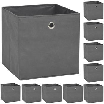 Maison & Déco Paniers, boites et corbeilles Vidaxl Boîte de rangement Gris