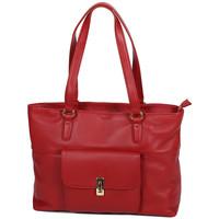 Sacs Femme Cabas / Sacs shopping Katana Sac Shopping En Cuir De Vachette Souple 89704 Rouge