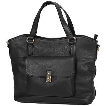 Sacs Femme Cabas / Sacs shopping Katana Sac Shopping Cuir De Vachette Souple 89705 Noir