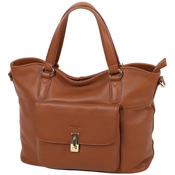 Sacs Femme Cabas / Sacs shopping Katana Sac Shopping Cuir De Vachette Souple 89705 Marron clair