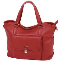 Sacs Femme Cabas / Sacs shopping Katana Sac Shopping Cuir De Vachette Souple 89705 Rouge