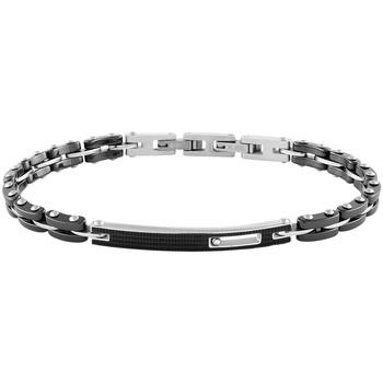 Montres & Bijoux Homme Bracelets Zephyr Bracelet  en Céramique Noire, Acier et Oxyde Noir