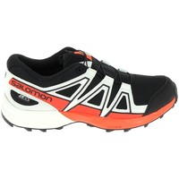 Chaussures Baskets basses Salomon Speedcross CSWP Jr Noir Rouge Noir