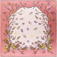 Accessoires textile Femme Echarpes / Etoles / Foulards Allée Du Foulard Carré de soie Premium Valery Rose
