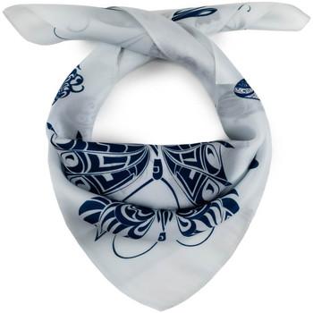 Accessoires textile Femme Echarpes / Etoles / Foulards Allée Du Foulard Carré de soie Piccolo Fusilli blanc