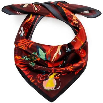 Accessoires textile Femme Echarpes / Etoles / Foulards Allée Du Foulard Carré de soie Piccolo Inferno rouge