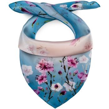 Accessoires textile Femme Echarpes / Etoles / Foulards Allée Du Foulard Carré de soie Piccolo Silia Bleu