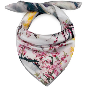 Accessoires textile Femme Echarpes / Etoles / Foulards Allée Du Foulard Carré de soie Piccolo Okinawa blanc