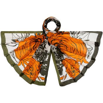 Accessoires textile Femme Echarpes / Etoles / Foulards Allée Du Foulard Etole soie Rosaé Orange