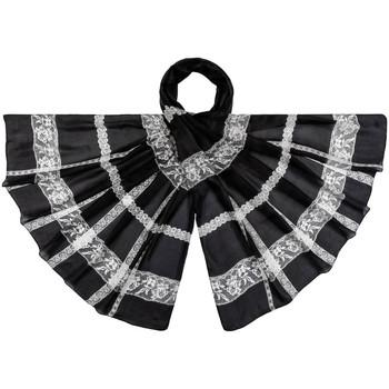 Accessoires textile Femme Echarpes / Etoles / Foulards Allée Du Foulard Etole soie Serrati Noir