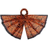 Accessoires textile Femme Echarpes / Etoles / Foulards Allée Du Foulard Etole soie Pelao Orange