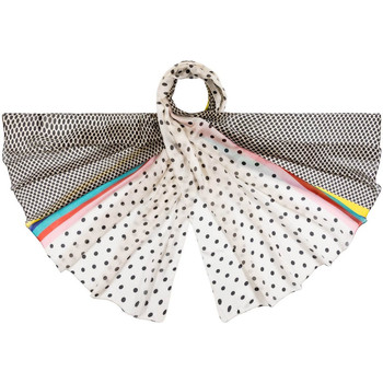 Accessoires textile Femme Echarpes / Etoles / Foulards Allée Du Foulard Etole soie Peplum Blanc
