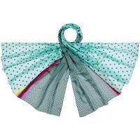 Accessoires textile Femme Echarpes / Etoles / Foulards Allée Du Foulard Etole soie Peplum Aqua