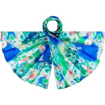 Accessoires textile Femme Echarpes / Etoles / Foulards Allée Du Foulard Etole soie Abymes Bleu