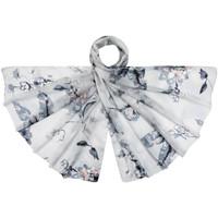 Accessoires textile Femme Echarpes / Etoles / Foulards Allée Du Foulard Etole soie Fiola Gris