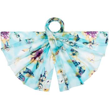 Accessoires textile Femme Echarpes / Etoles / Foulards Allée Du Foulard Etole soie Fiola Turquoise