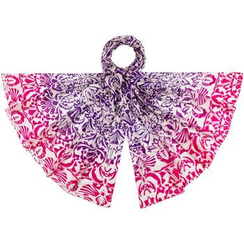 Accessoires textile Femme Echarpes / Etoles / Foulards Allée Du Foulard Etole soie Phileas Fuchsia