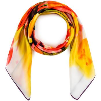 Accessoires textile Femme Echarpes / Etoles / Foulards Allée Du Foulard Carré de soie Premium Curya orange