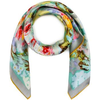 Accessoires textile Femme Echarpes / Etoles / Foulards Allée Du Foulard Carré de soie Premium Emina Bleu