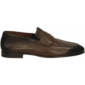 Chaussures Homme Mocassins Santoni PENNY dark-brown