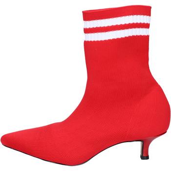 Chaussures Femme Bottines Olga Rubini BJ427 Rouge