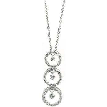 Montres & Bijoux Femme Colliers / Sautoirs Brillaxis Collier  diamants en or blanc 750/1000 Blanc