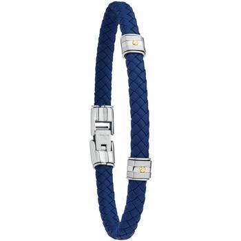 Montres & Bijoux Homme Bracelets Jourdan Bracelet  Hudson tressé acier et or Jaune