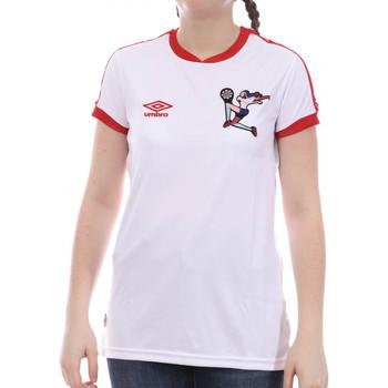 Vêtements Fille T-shirts manches courtes Umbro 773860-50 Blanc