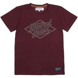 Vêtements Garçon T-shirts manches courtes Kaporal Tee Shirt Garçon manches courtes Rouge