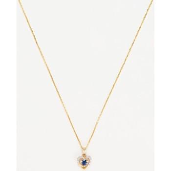 Montres & Bijoux Femme Pendentifs Mes-Bijoux.fr Pendentif Or Jaune Diamant et Saphir Doré